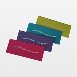Schmuckteile für Einladungskarten zur Konfirmation