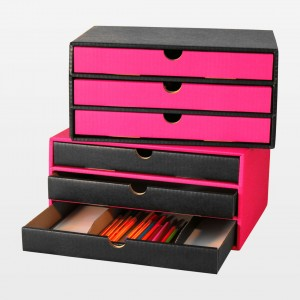 """Schubladenbox """"Stifte pink"""""""