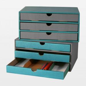 """Schubladenbox """"Stifte türkis"""""""