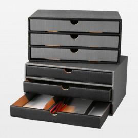 Schubladenbox grau